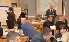 """ADL attendees attend a workshop on 'Motivational Design in E-Learning', taught by CDR Geir Isaksen (NOR)."""""""