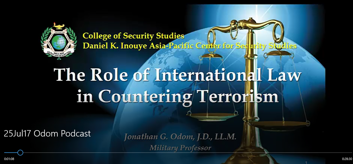 International Law and Counter Terrorism