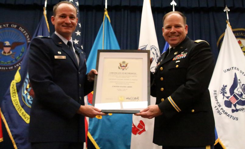 Lt. Col. Jeffery Steffen retirement