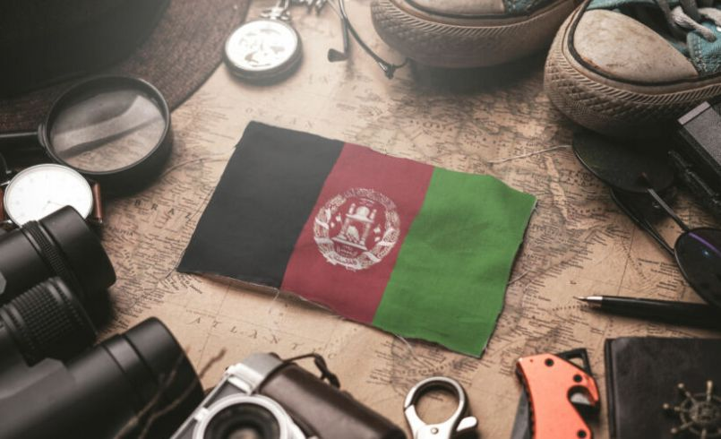 Afghanistan flag and items