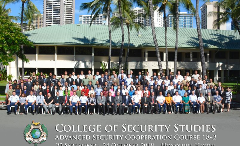 Advanced Security Cooperation course 18-2 group photo