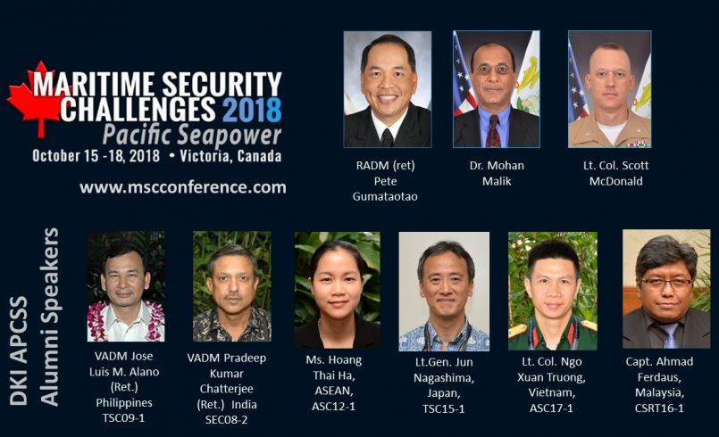 Alumni speakers at Maritime Security Challenges conference