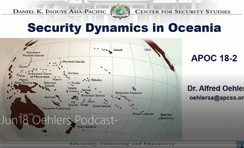 Oceania security dynamics