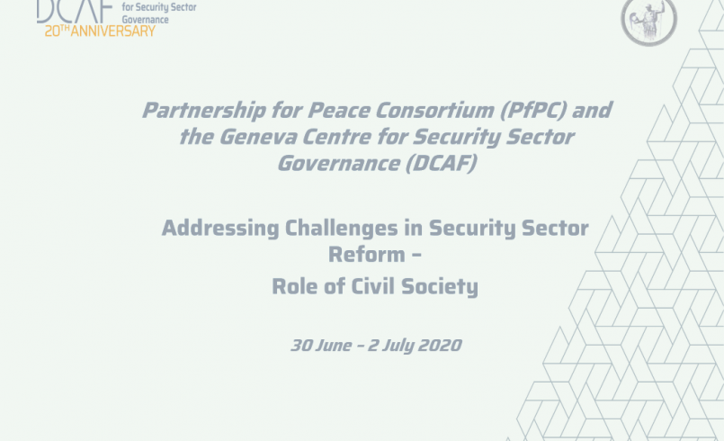 PfPC's SSR to Conduct a 3-day Webinar on Role of Civil Society