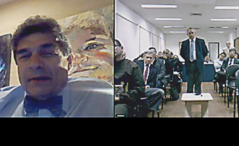 """Dr. Luis Bitencourt lectured via VTC on """"Challenges for Defense Governance in a Complex and Rapidly Changing World"""""""