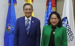 Professors Boris Saavedra and Celina Realuyo