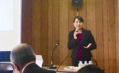 Jessica Ear briefs UN