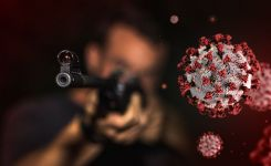 Coronavirus and terrorism artwork