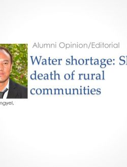 Tenzin Gemgyel - Water shortage article