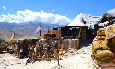 Afghan and U.S. Special Forces keep a watchful eye at Observation Post KRAKKEN overlooking Gurgoray village in eastern Afghanistan.