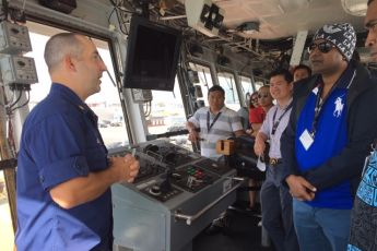 Commanding Officer, USCGC WALNUT discusses the importance of port reconstitution and safety of navigation following a major event, and the dynamic positioning system abilities onboard.