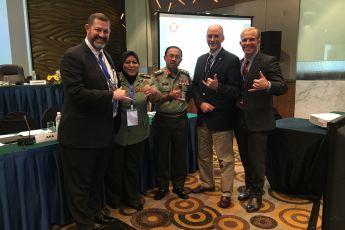 Exercise facilitation team – Weidi, Lt. Col. Hassan, Col. Sakri, Gordon and Ryan